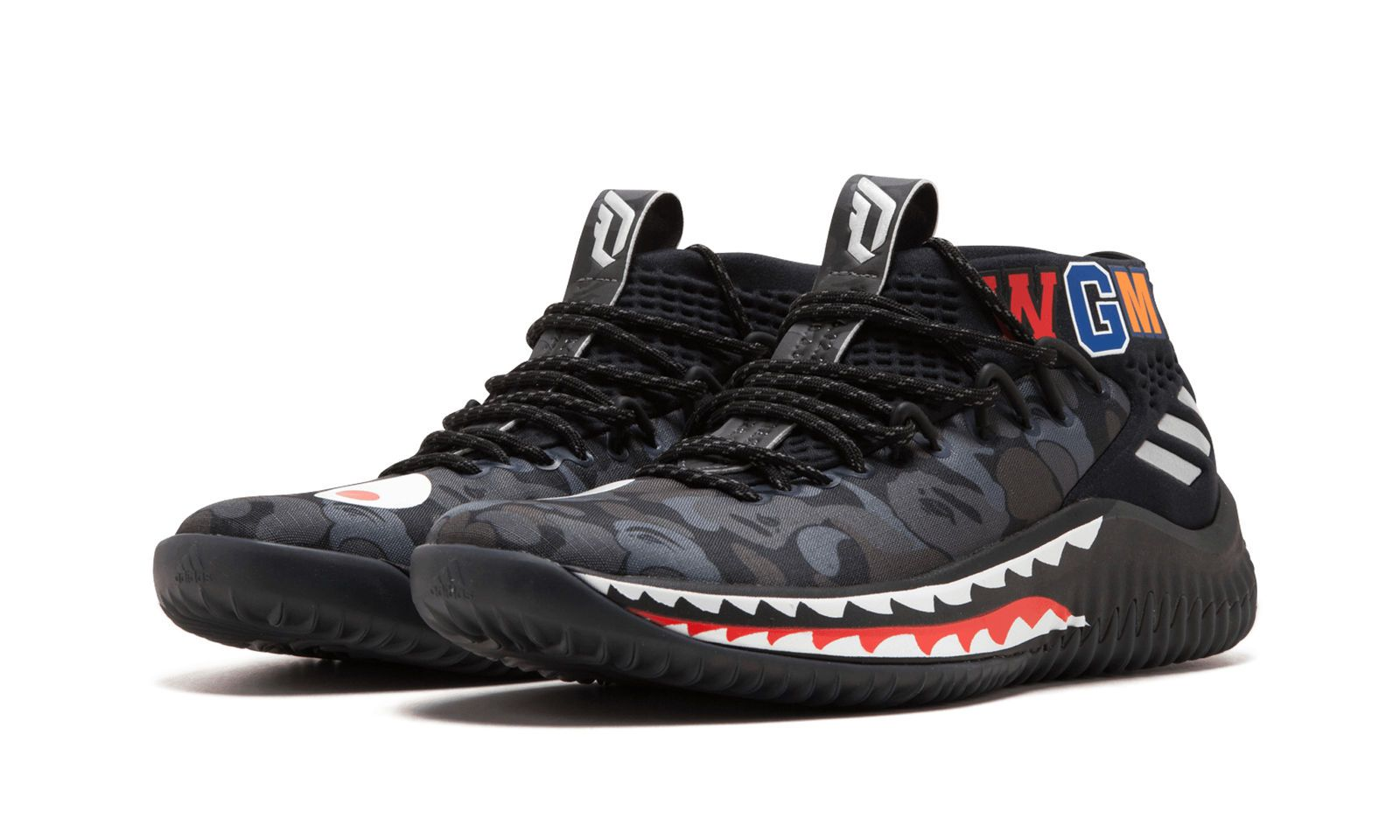 purchase cheap 17d6c 9ac64 Details about ADIDAS X A BATHING APE DAME4 DAME 4 DAMIAN ...