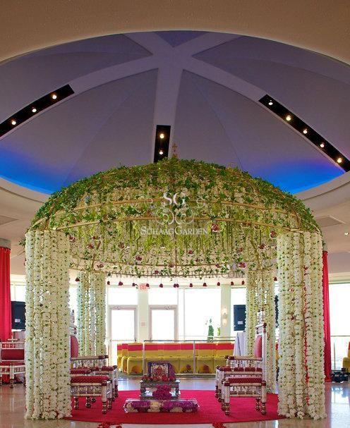 Suhaag garden hyatt pier 66 roof top floral mandap orchid and chuppah junglespirit Gallery