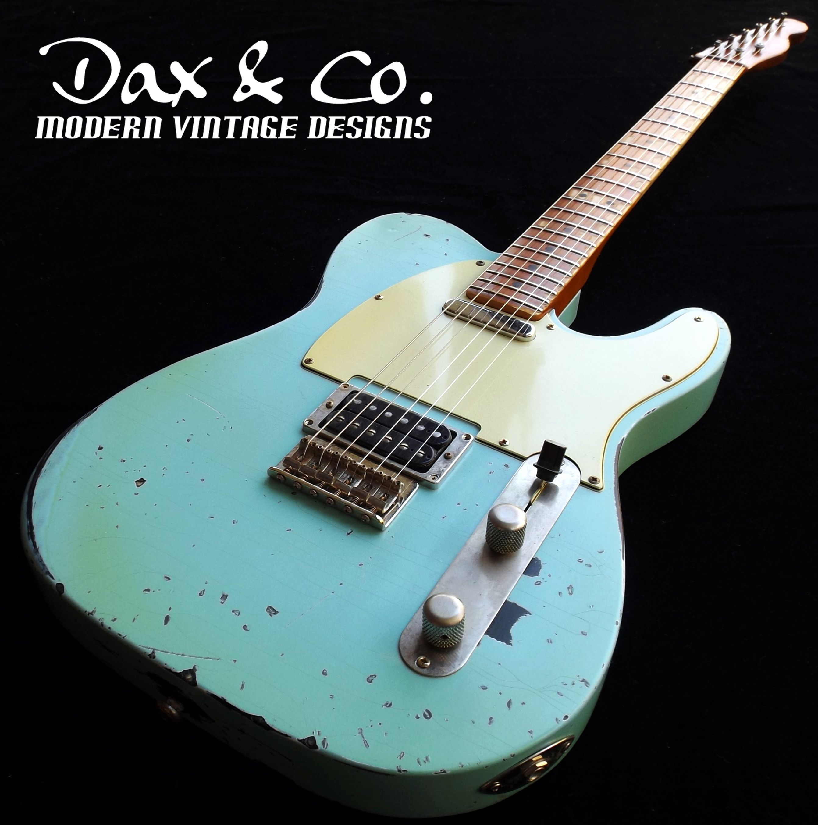 Dax&Co. Customized Telecaster Daphne Blue Heavy Relic | Guitar and ...