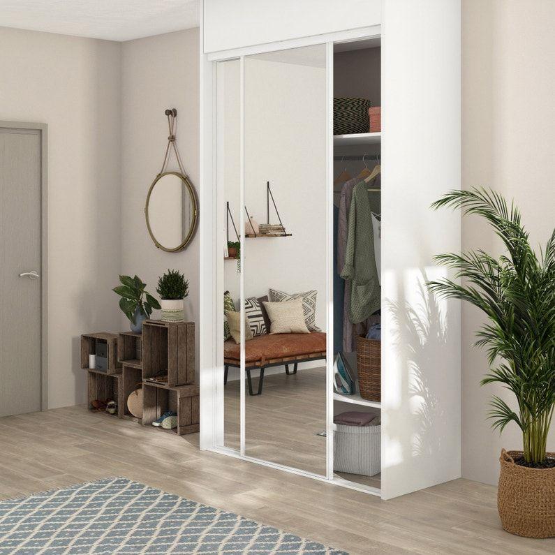 portes de placard coulissantes reflect 2 portes blanc
