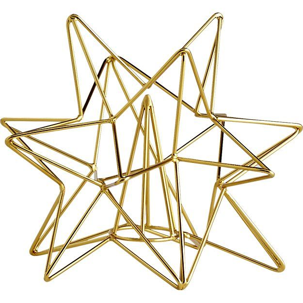 gold star tree topper Star tree topper, Tree toppers and Holidays