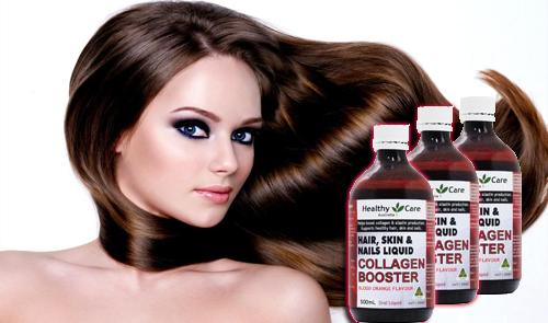 Image result for Collagen dạng nước - Collagen Booster Hair, Skin & Nails 500ml