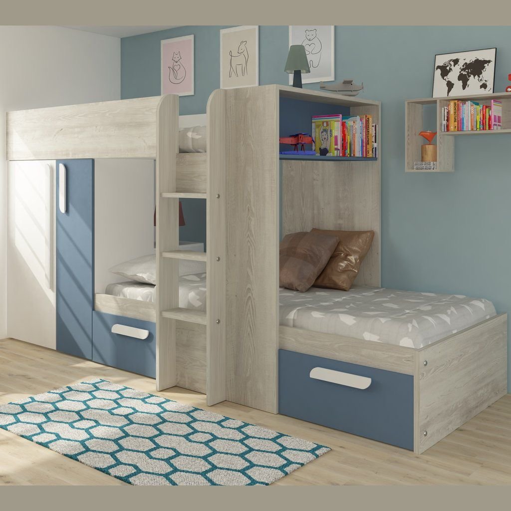 Trasman Barca Bunk Bed with Wardrobe & Storage Bed with
