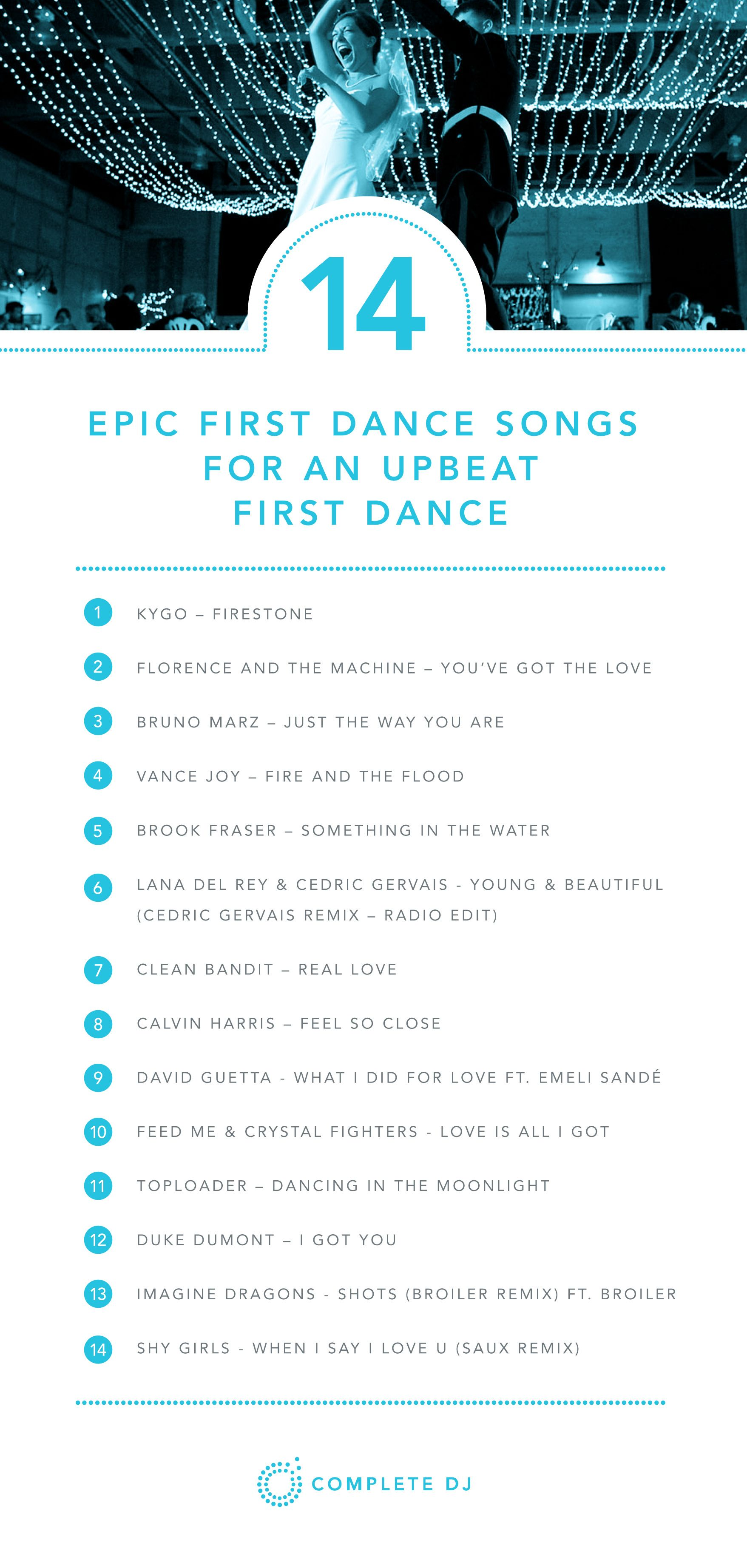 Great suggestions on upbeat wedding first dance songs, upbeat bridal ...