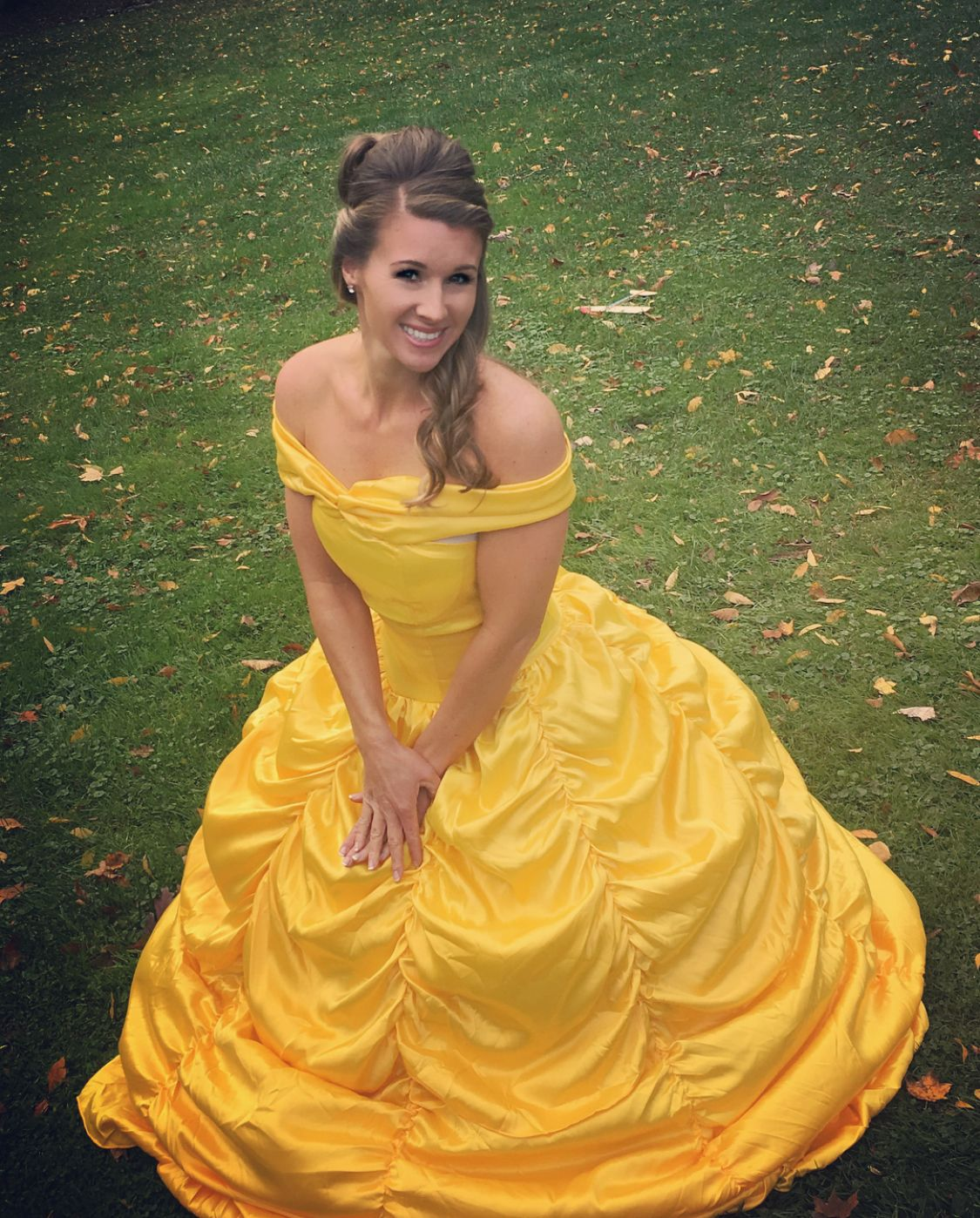 Adult women belle gown costume halloweenudparty time in