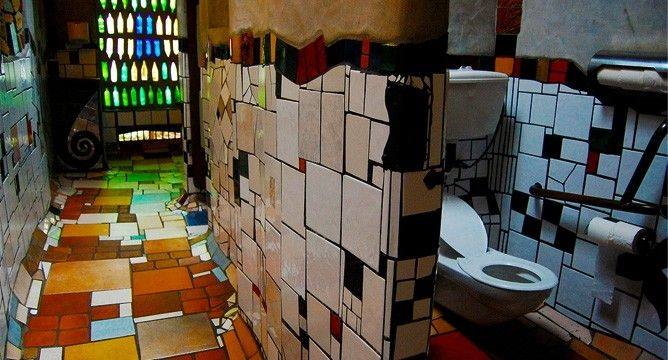 Hundertwasser Badezimmer ~ Friedensreich hundertwasser designed this public toilet for the