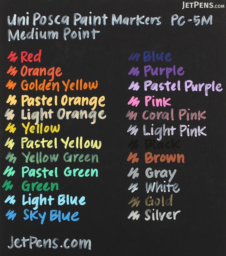 Uni Posca Paint Marker PC-5M - Black - Medium Point - UNI PC5M.24 ...