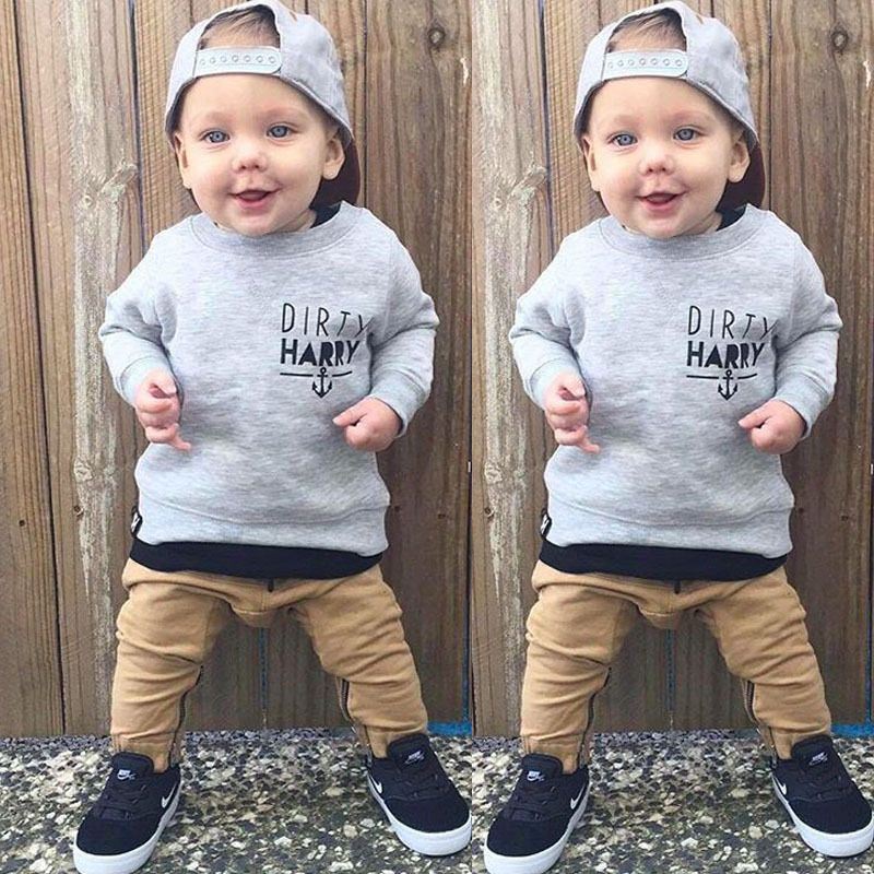 Toddler Kids Baby Boys Girls Hoodie Tops T-Shirt Pants Hoodies Outfits Clothes