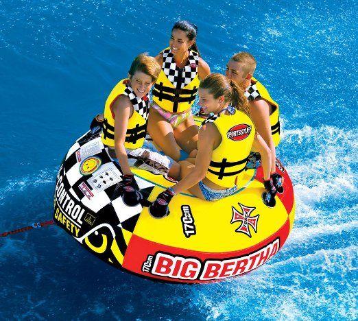 Amazon Com Sportsstuff 53 1329 Big Bertha Towable Waterskiing Towables Sports Outdoors Big Bertha Towable Tubes Bertha