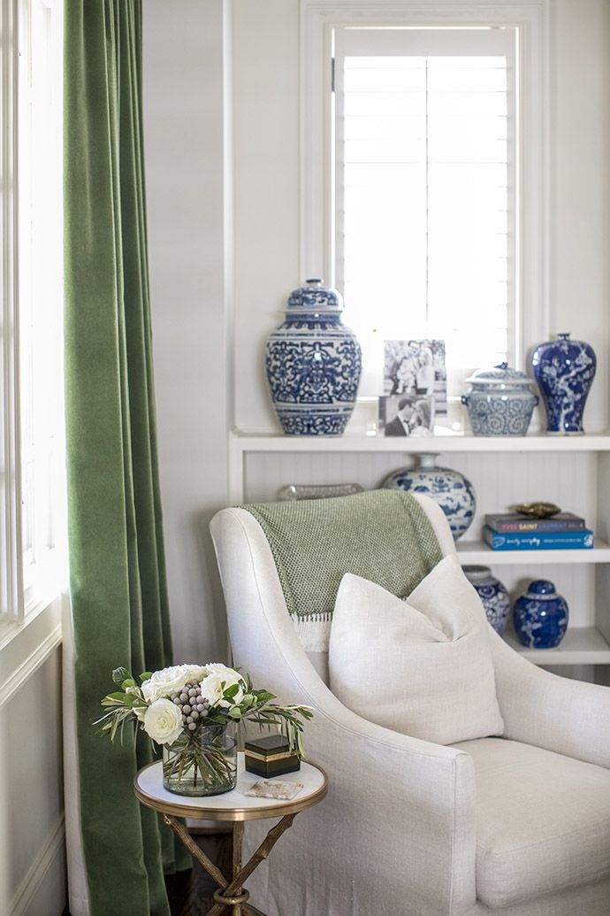 Tour A Luxurious And Bright Southern Home Drapery panels, Southern