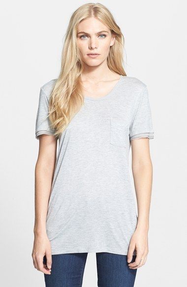 Mixed Media Pocket Tee 2018 Newest Sale Online Natural And Freely Best Wholesale Sale Online Free Shipping Best Place Js5ACC