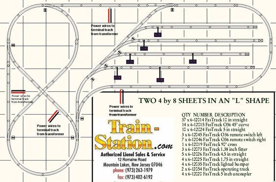 6 x 8 fast track layouts needed Toy train operating and – Lionel Remote Control Track Wiring Diagrams