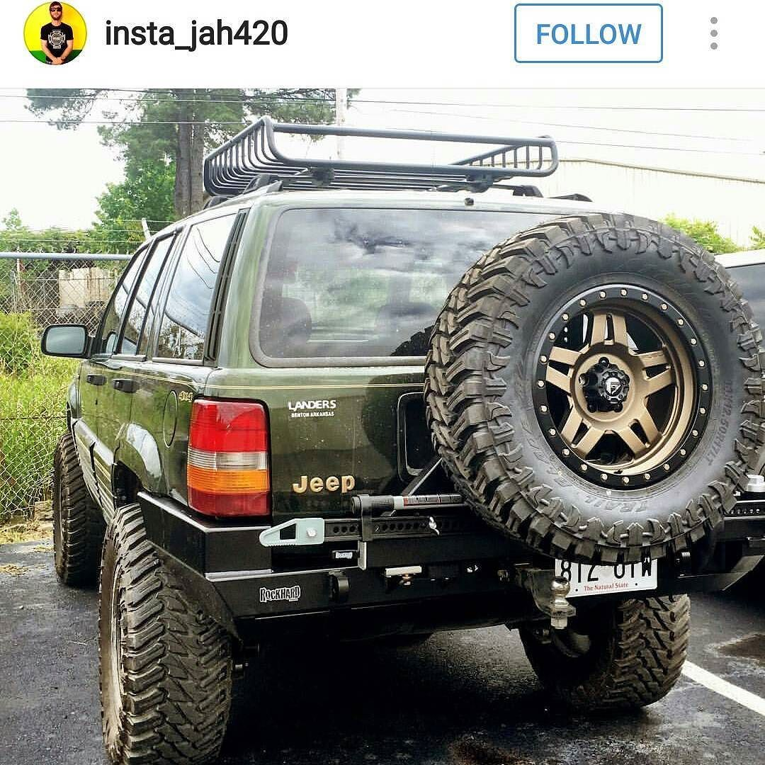 Rockhard4x4 Jeep Grandcherokee Zj Rear Bumper With Tire Carrier Owner Insta Jah420 Rearbumper Tirecarrier Jee Jeep Grand Cherokee Zj Jeep Zj Jeep Wj