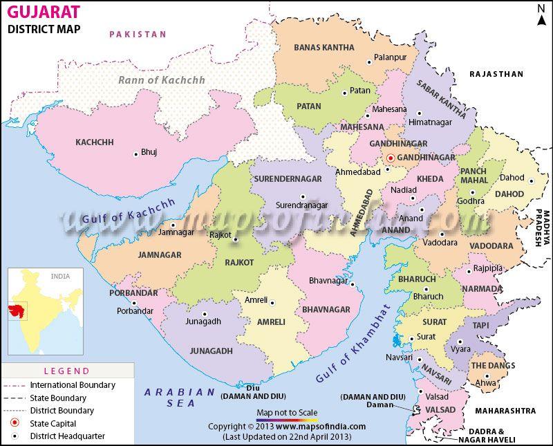 Gujarat Districts Map