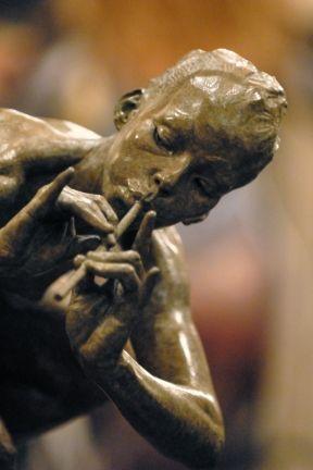 "Richard MacDonald's ""Piper, Draped"" during exhibition to benefit University of Miami's Lowe art Museum, Dec. 2010. www.robinrile.com"