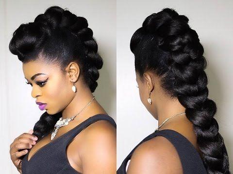 Easy Halo Braid Tutorial Using Braiding Hair Pocketsandbows Youtube Hair Styles Natural Hair Mohawk Natural Hair Styles