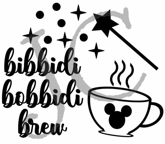 Bibbidi Bobbidi Brew With Coffee Mug Svg Instant Download Etsy Disney Scrapbooking Layouts Keurig Coffee Makers Cricut Projects Vinyl