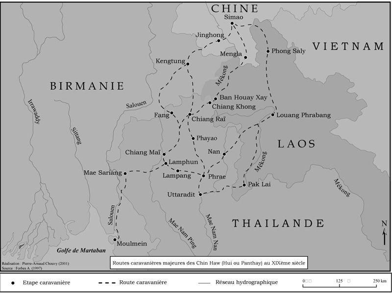 Les Routes caravanières majeures des Chin Haw au XIXe siècle ont aussi vu passer le thé