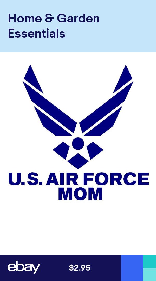 UNITED STATES AIR FORCE MOM Vinyl Window Decal Vinyl