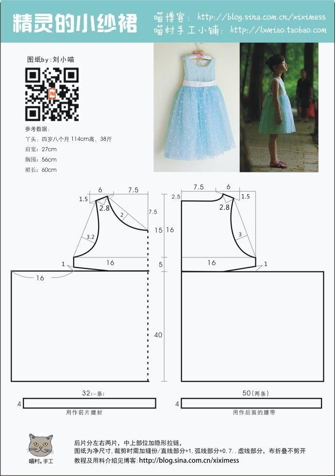 molde-para-hacer-un-vestido-de-princesa-para-ninas-2 | 4 años ...