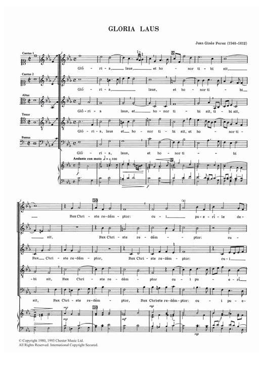Gloria Laus By Juan Ginz Perez Digital Sheet Music Piano Chords