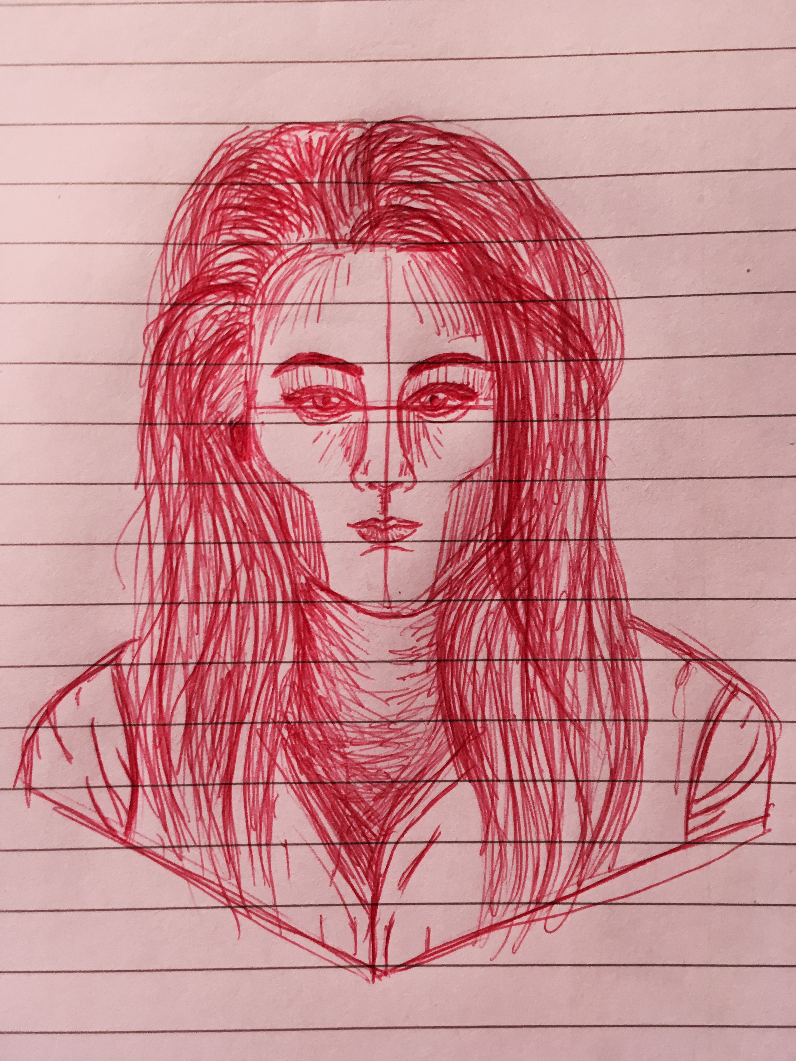 Biro Drawing Little Red By Danidedestroyer Me Biro Drawing Drawings Artwork