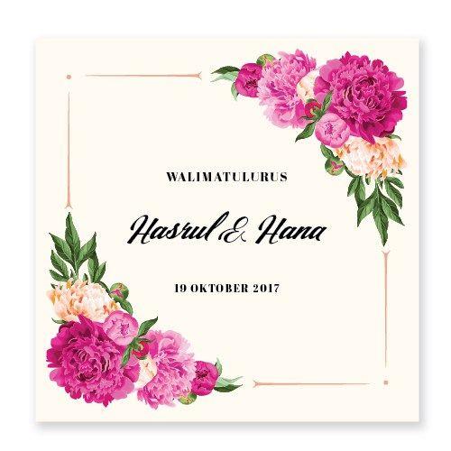 Kad Kahwin Floral 67 Koleksi Floral Terbaik Chantiqs Com Kad Kahwin Kad Kahwin Design Floral