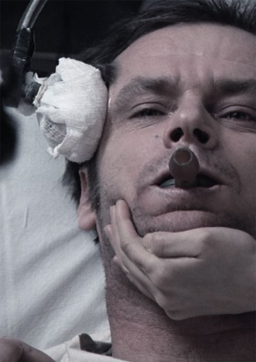 One Flew Over The Cuckoo's Nest. One of the many movies Jack Nicholson won best actor in.