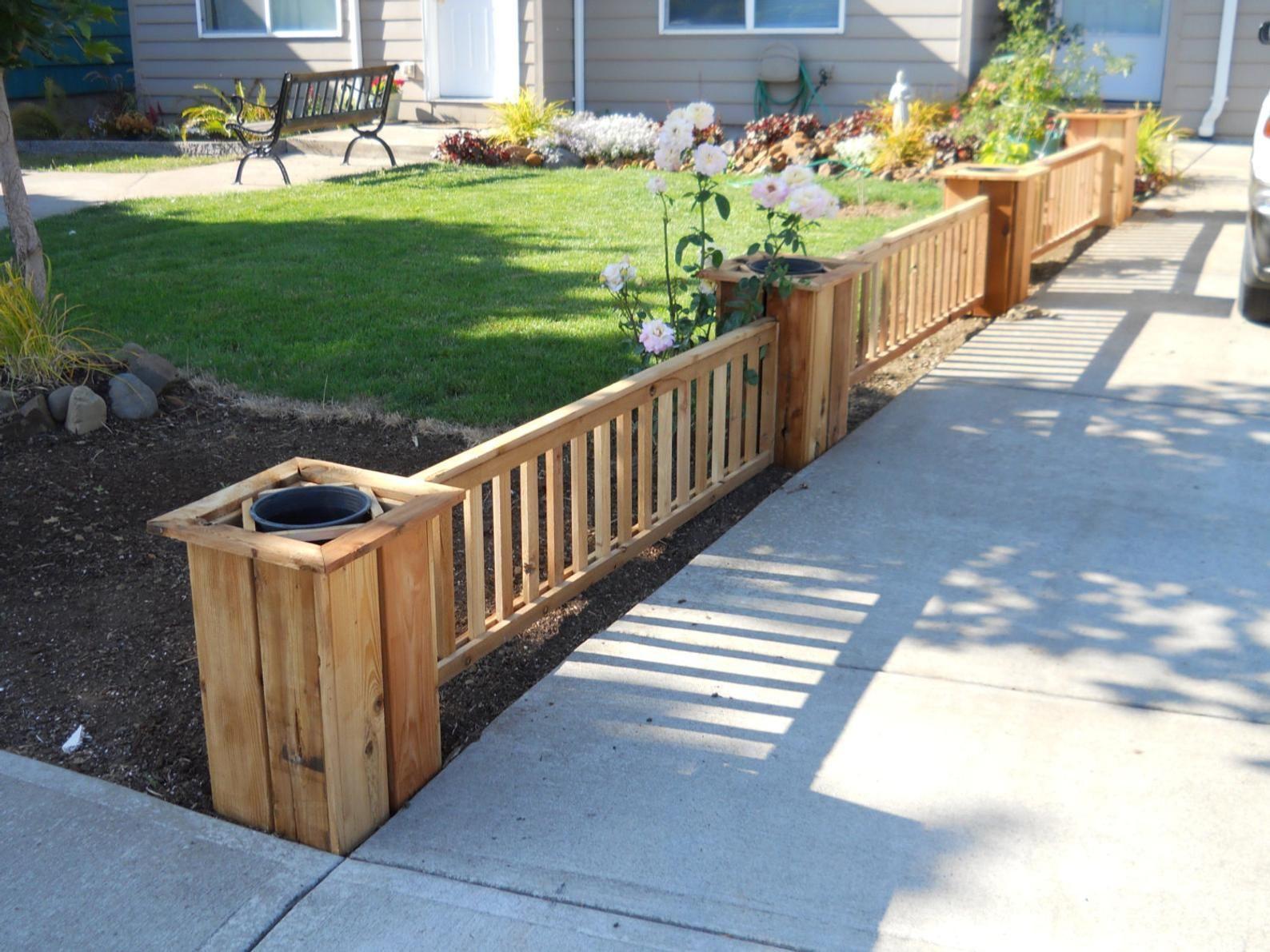 Cedar fence planter 96 diy kit fence planters backyard