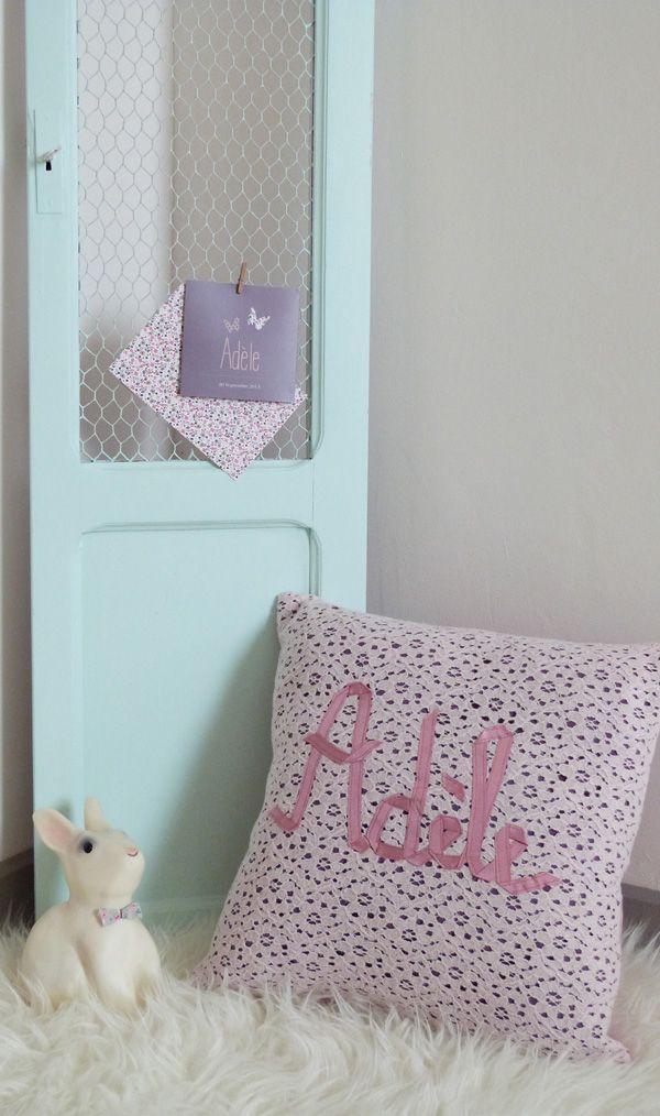 coussin pr nom ad le couture turbulences blog pinterest couture deco et d co int rieure. Black Bedroom Furniture Sets. Home Design Ideas