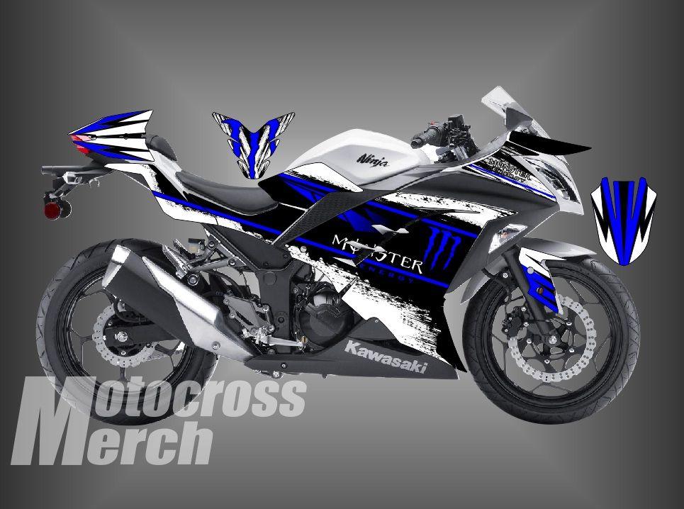 Superbe Decal Kawasaki Ninja 250fi Dsain Bebas Bisa Dikasih Nama Plus Nomer  Warna/gambar/lis. Monster EnergyDecalKawasaki ...