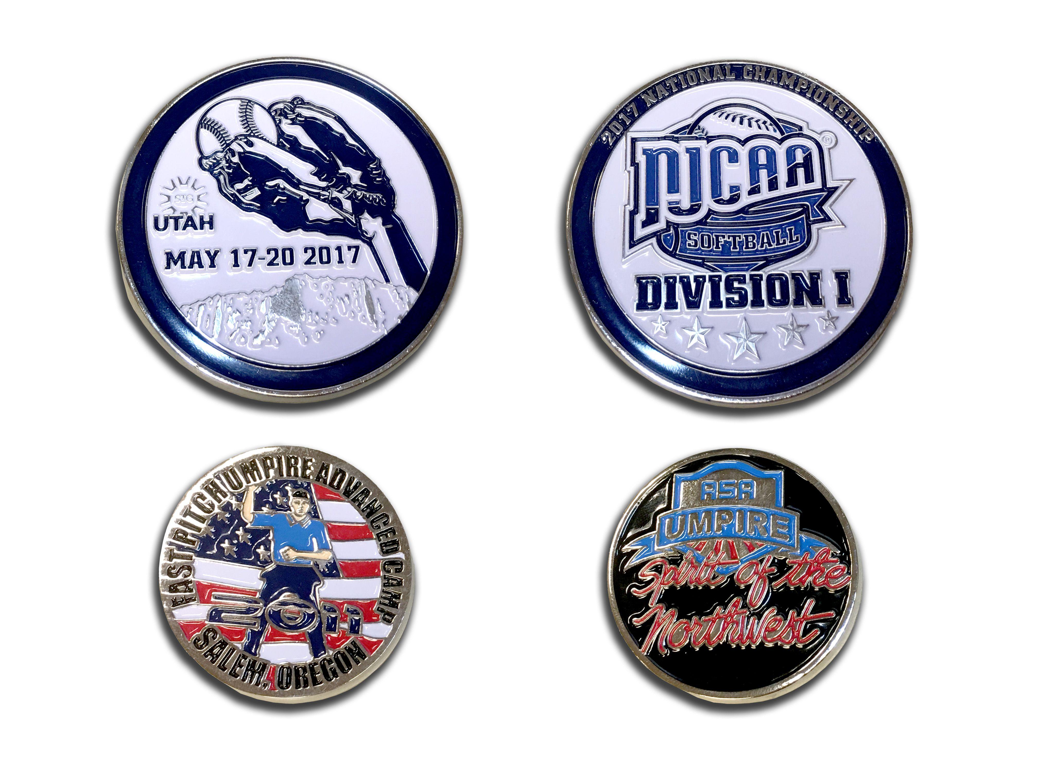 softball challenge coins