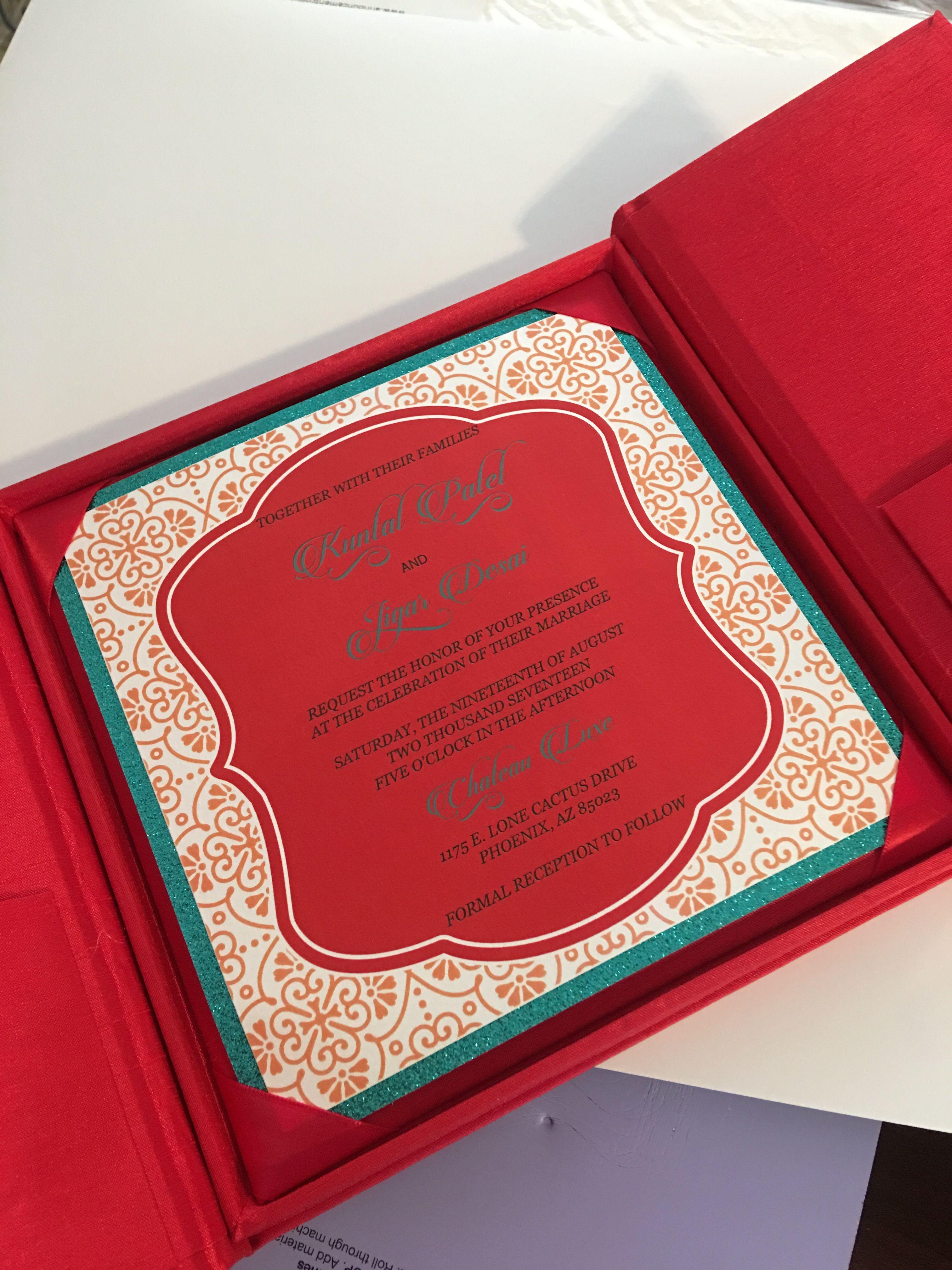 Indian Wedding Invitation Card In A Box Indianweddinginvitations Indian Wedding Invitations Indian Wedding Invitation Cards Couture Wedding Invitations