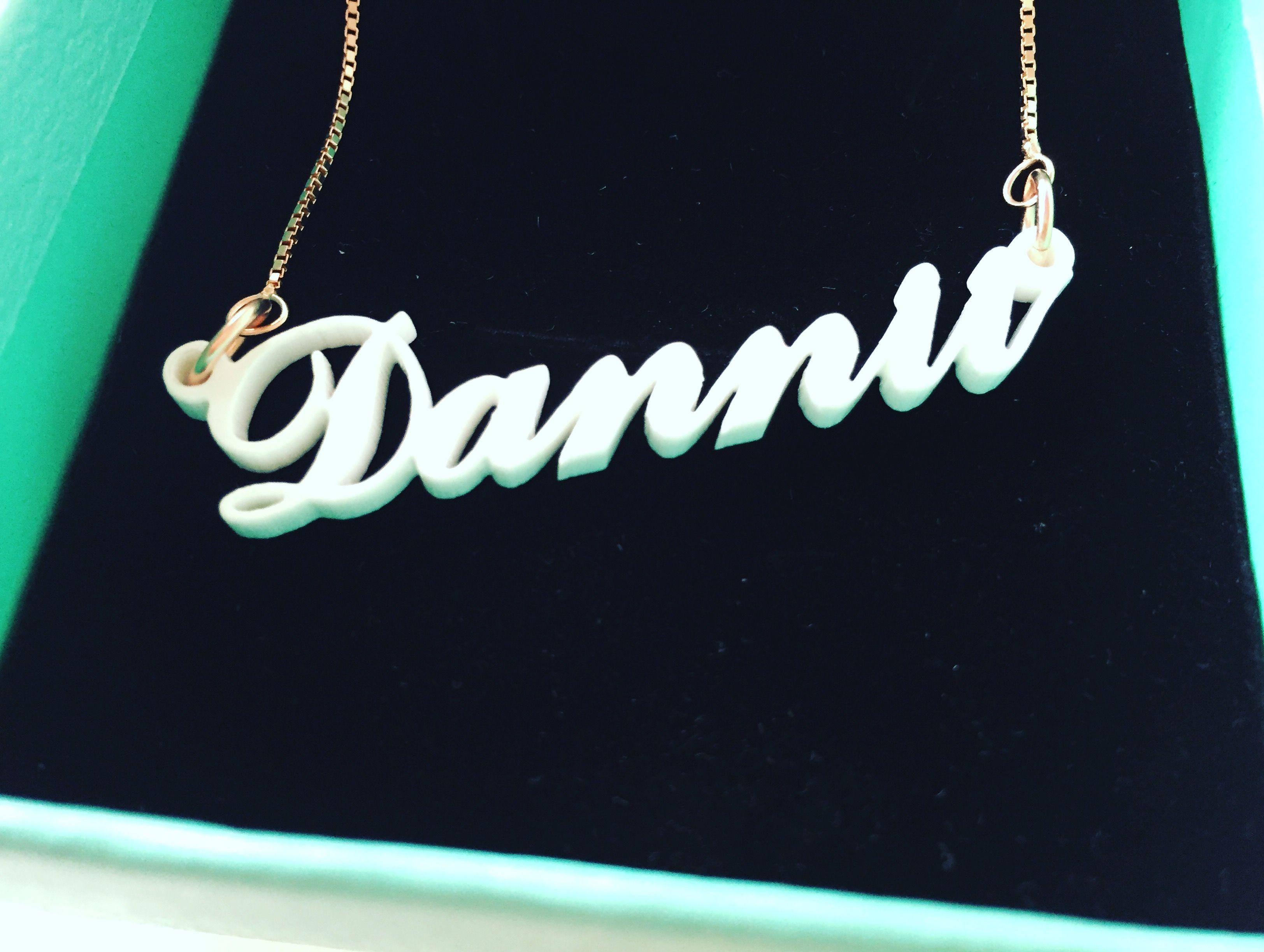 Acrylic name necklaces