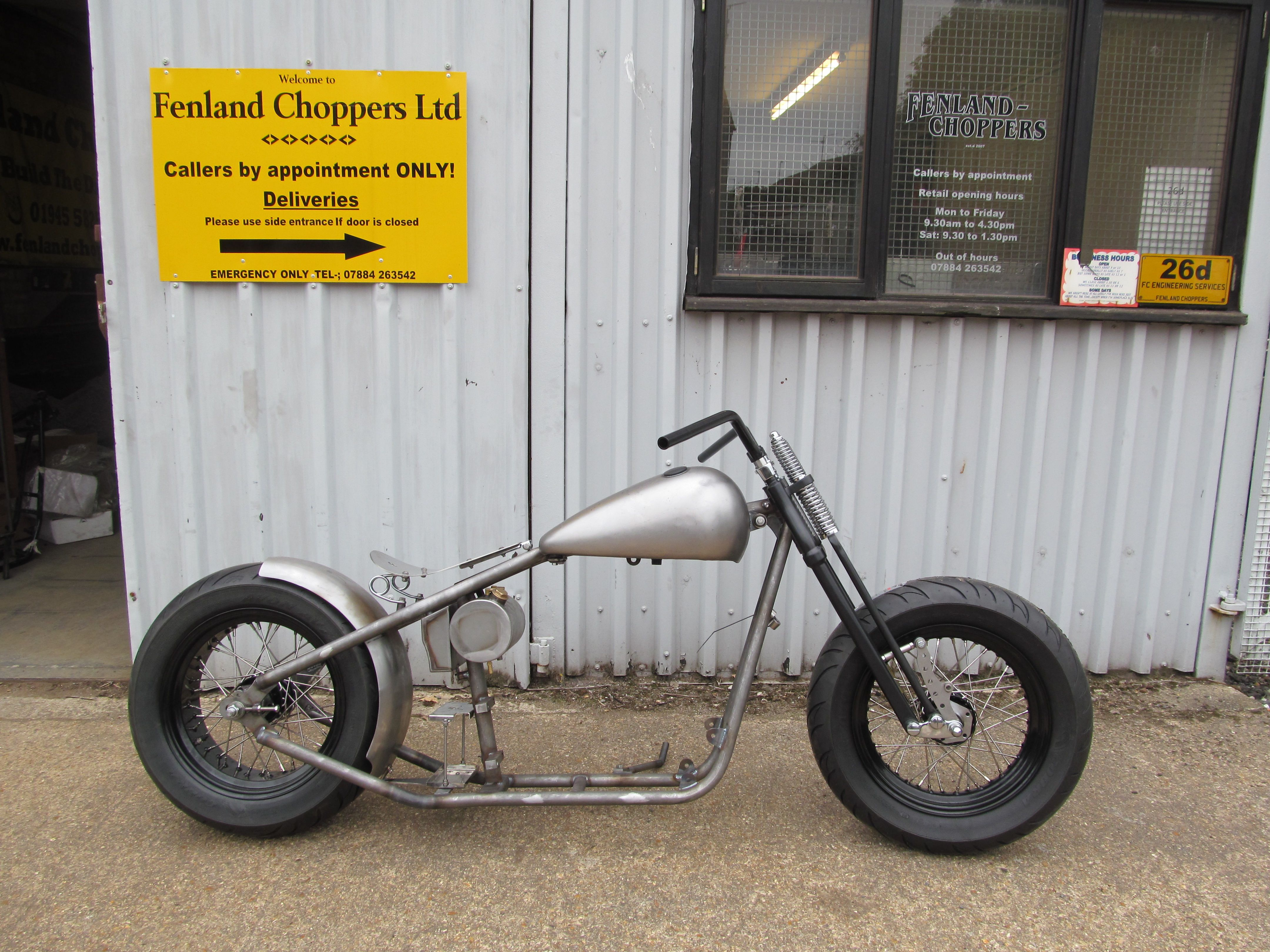 Fenland Choppers 200 rear tyre Bar hopper rolling chassis | Fenland ...