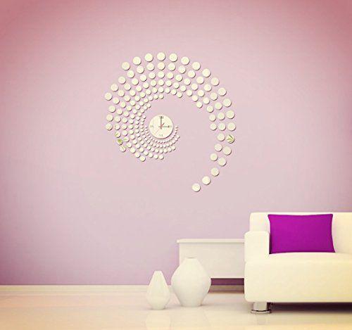 Liroyal Home Decorative Wall Clock Modern Design Large Mirrors