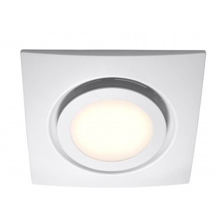 White Exhaust Fan With Led Light In 2020 Bathroom Fan Light Bathroom Exhaust Fan