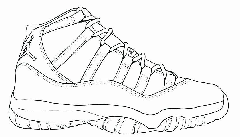 Jordan Shoe Coloring Book Best Of Jordan 11 Sketch At Paintingvalley In 2020 Shoes Drawing Sneakers Drawing Jordan Coloring Book