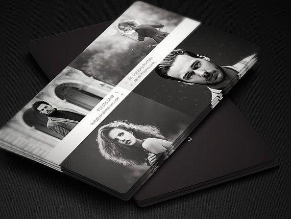 Photographer Business Card QuadPix Photoshop By CursiveQDesigns