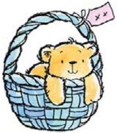 Bear in Basket - Penny Black Inc