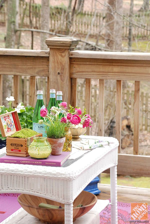 Deck Decorating Ideas White Wicker Furniture