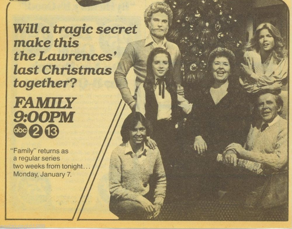 1979 Family Christmas Meredith Baxter ABCTv Guide Ad