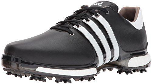 adidas Golf Mens TOUR360 2.0 Golf-Shoes Core Black/Ftwr White/Core Black 9 M