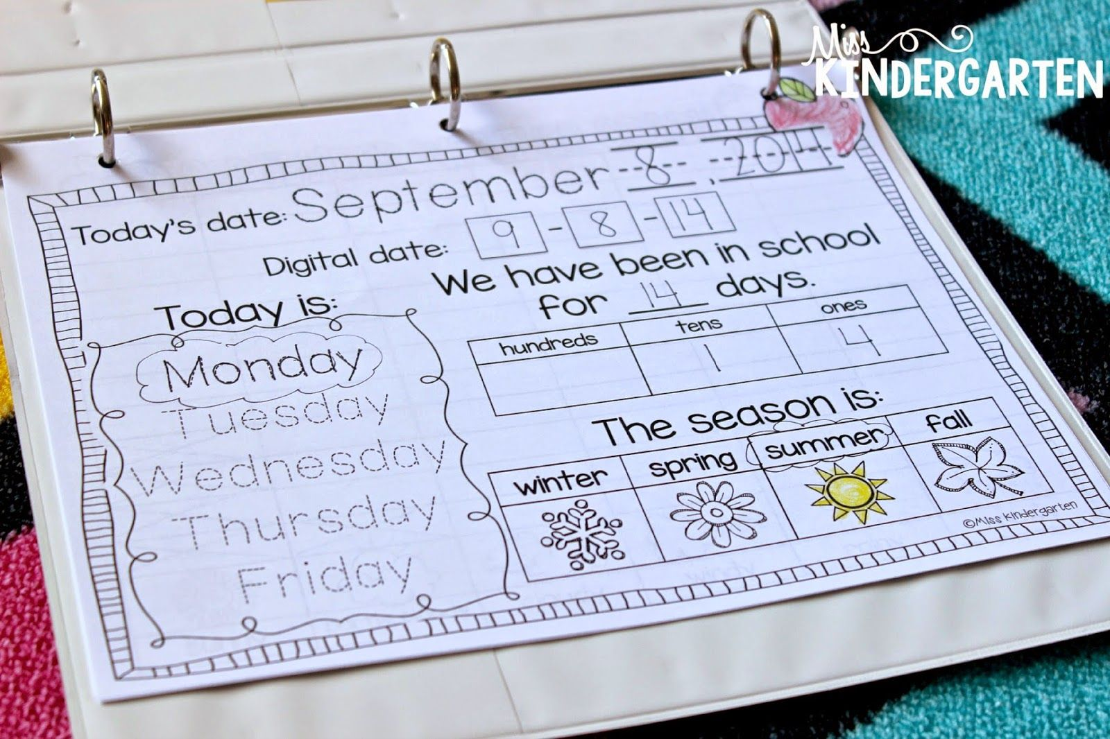 Calendar Time In Kindergarten