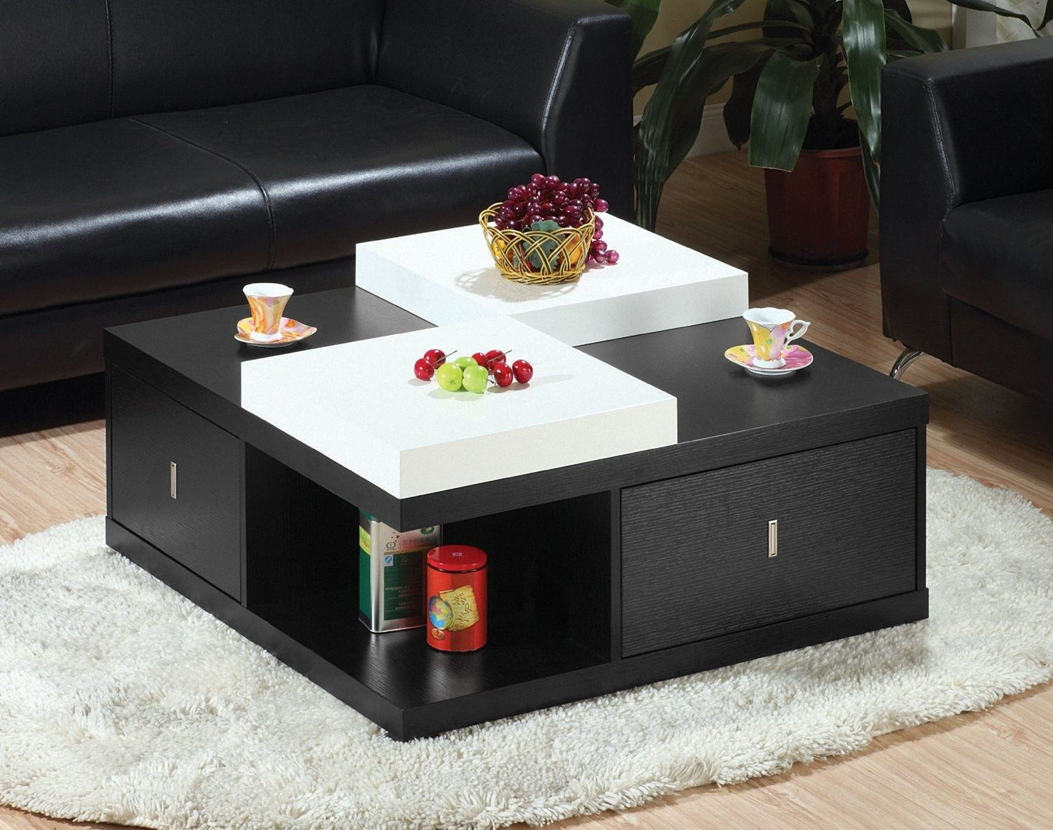 Captivating Large Square Coffee Table