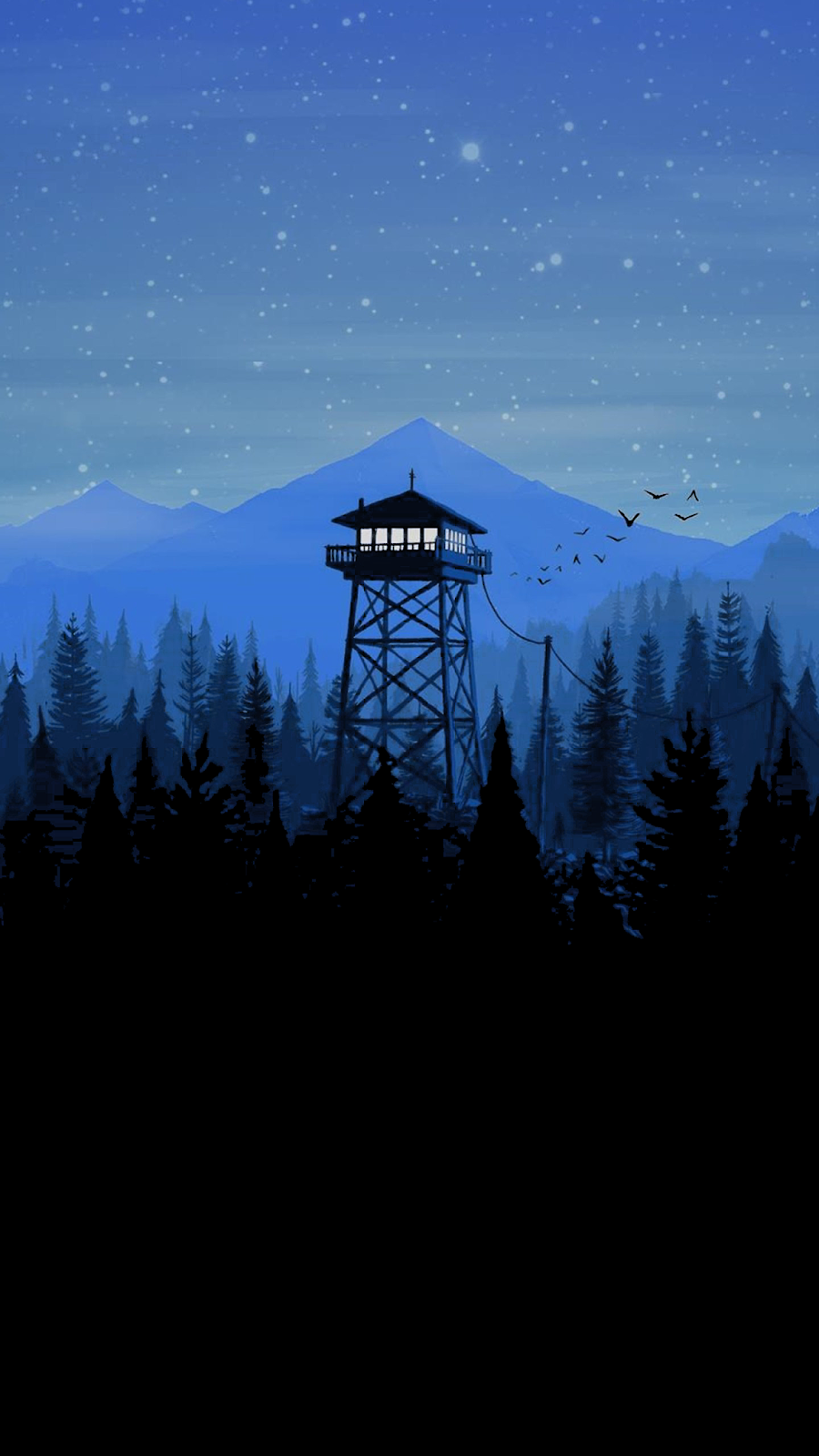 Another Firewatch Wallpaper For Amoled Display Wallpaper Iphone Android Scenery Wallpaper Minimal Wallpaper Ipad Wallpaper Watercolor