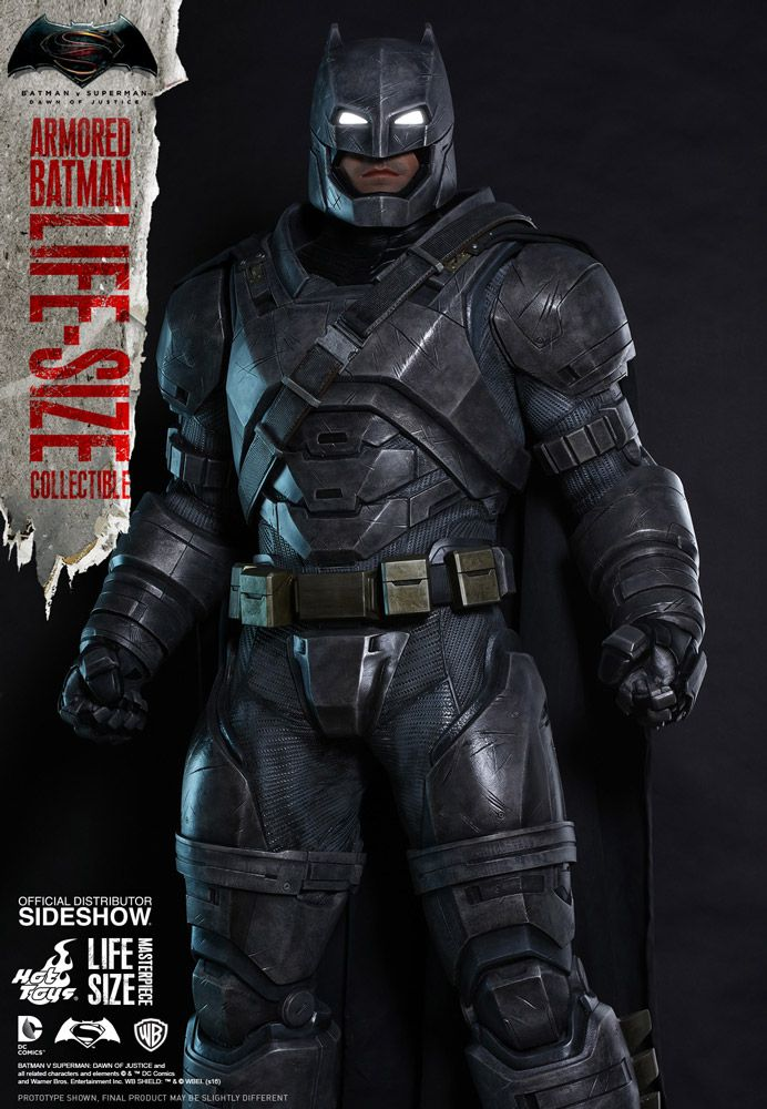 Dc Comics Armored Batman Life Size Figure By Hot Toys Sideshow