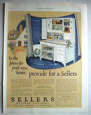 sellers hoosier mastercraft | 1924 SELLERS KITCHEN CABINET DESIGN KITCHEN AROUND IT - ELWOOD INDIANA ...
