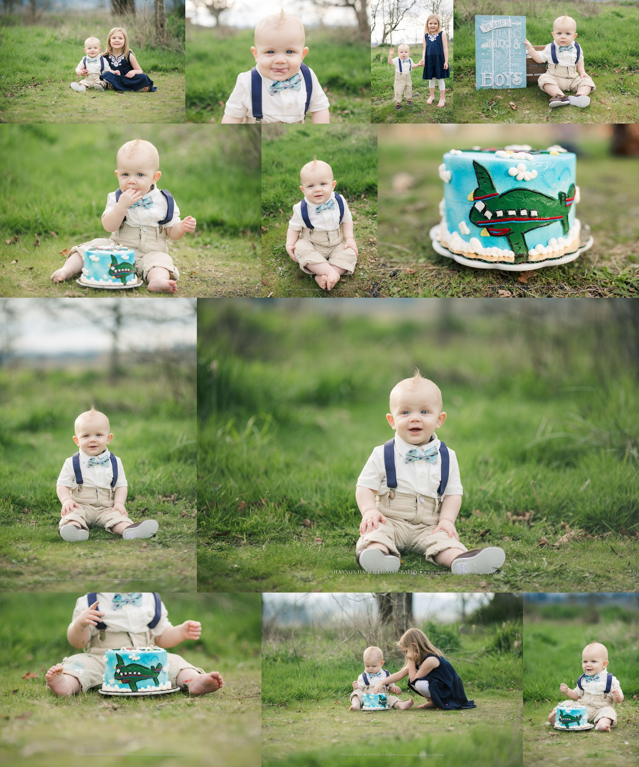 Portland Baby Photographer First Birthday Outdoor Cake Smash