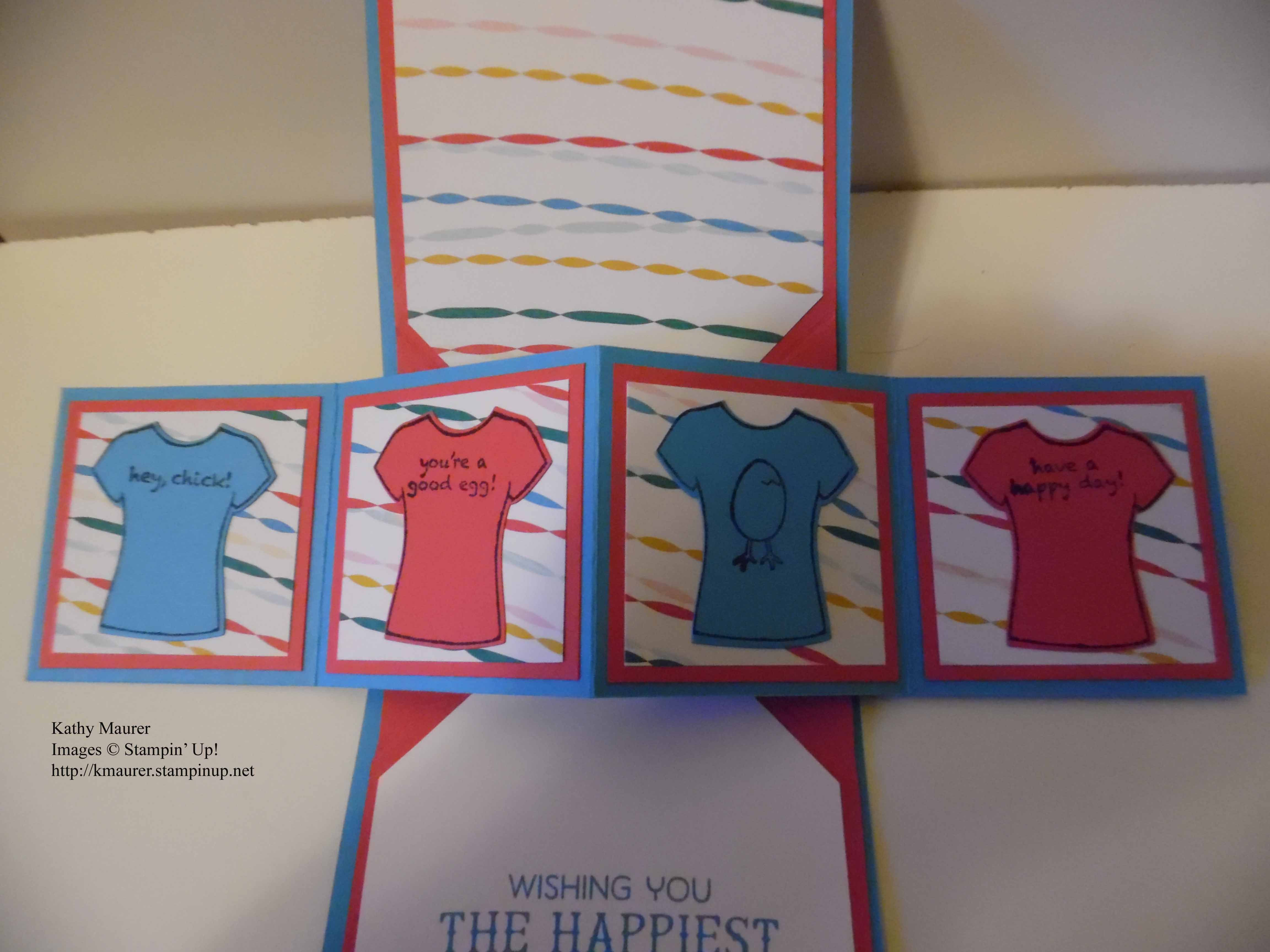 Shirt design card - Birthday Pop Up Panel Card Made With Stampin Up S T Shirt